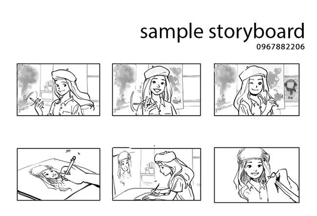 Bước 1: Lên bản vẽ phân cảnh kịch bản